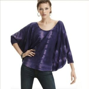 Elizabeth & James Purple Tie Dye Dolman Sleeve Top